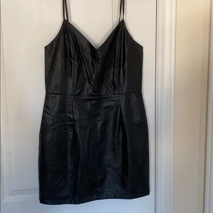Urban outfitters black vegan leather dress
